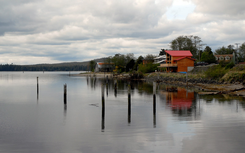 The town of Massett in the Queen Charlotte Islands - Haida Gwaii - in British Columbia (B.C.)