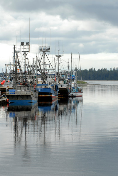 Fishing boats in Massett, Queen Charlotte Islands - Haida Gwaii