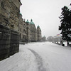 Victoria British Columbia during a snow storm - legislature buildings<br /> <br /> <br /> Travel Stock Photography for the Nature Stock Photography Library by Professional Photographer Christina Craft