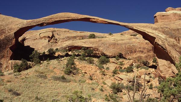 Landscape Arch. Arches National Park, Utah.