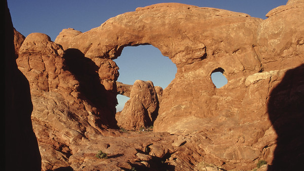 Double Arch. Arches National Park, Utah.