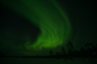 Northern Lights. Kamaanen, Finland.