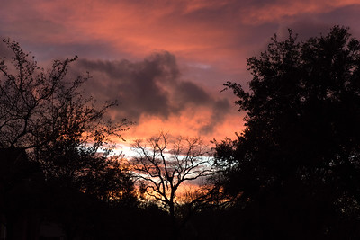 Sunset from my street, Houston, Texas