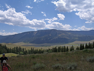 Hiking up through the Rose Creek area, looking back at Lamar Valley