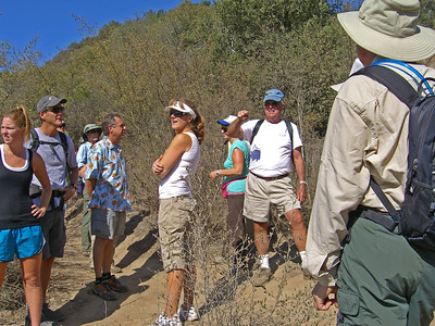 Bud explaining some history of the trail system.