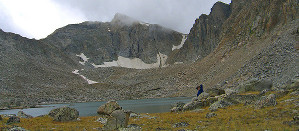 Doug at 11,000 foot alpine lake