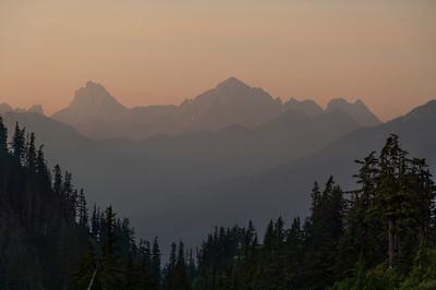 Layered Smoky Mountains with Tomyhoi Peak