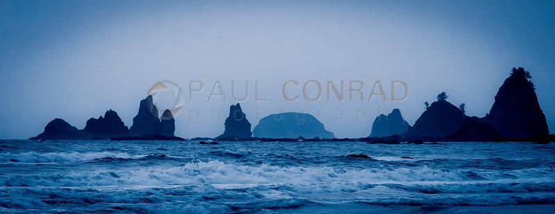 © Paul Conrad/Pablo Conrad Photography - The surf of the Pacific Oceanock formation near Hole in the Wall north of Rialto Beach in La Push, Wash.