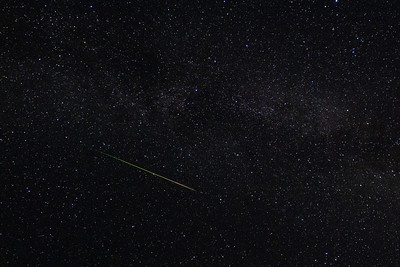 Perseid Meteor Shower From Picture Lake in Whatcom County, Wash.