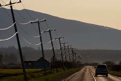 Sun Stroked Power Lines
