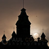 © Paul Conrad/Pablo Conrad Photography - The rising Sun is framed by the turrets of the Whatcom History and Art Museum in downtown Bellingham, Wash.