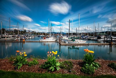 Long Exposure of Squalicum Harbor in Bellingham, WA