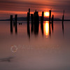 © Paul Conrad/Pablo Conrad Photography  Old pylons at Locust Beach along Bellingham Bay in Bellingham, Wash., during sunset.