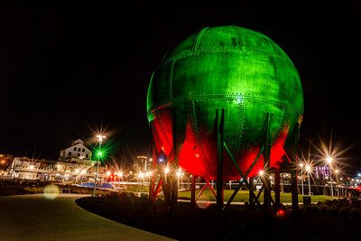 Christmas Lights Acid Ball Waypoint Park Downtown Bellingham -  0216