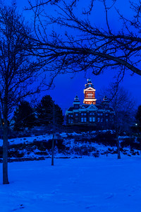Winter In Bellingham: Whatcom Museum During Blue Hour -  0020