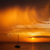 © Paul Conrad/Pablo Conrad Photography - Virga falls over Bellingham Bay during sunset at Boulevard Park in Bellingham, Wash., after thunderstorms pass through the area on Friday evening July 13, 2012.