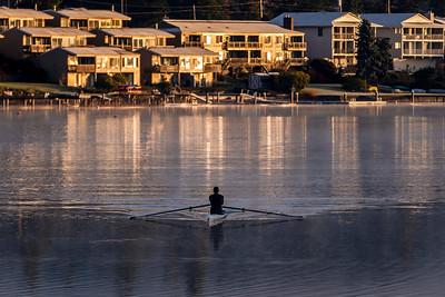 Morning Row on Lake Whatcom  -  0087
