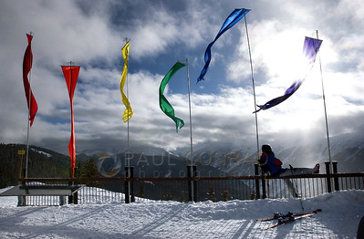 © 2008 Paul Conrad/Sky Fire Photography Flags atop Aspen Mountain in Aspen, Colo.   Send Me Your Thoughts and Questions