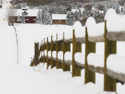 © 2008 Paul Conrad/Sky Fire Photography  The snow continues to fall on a fence at Owl Creek Ranch as a winter storm passes over the Aspen, Colorado, area.   Send Me Your Thoughts and Questions