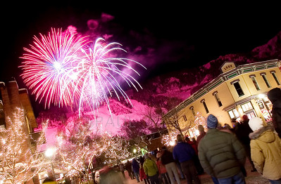 © 2008 Paul Conrad/ Sky Fire Photography Fireworks explode over downtown Aspen, Colo., during the opening weekend of the 2008 ski season.  Send Me Your Thoughts and Questions