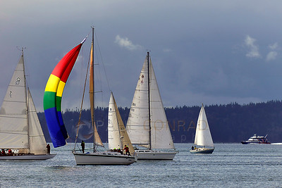 © Paul Conrad/Pablo Conrad Photography - Sailboats in the Puget Sound off Carkeek Park in Seattle, Wash.