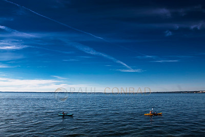 © Paul Conrad/Pablo Conrad Photography  Kayaking in Bellingham Bay near Boardwalk Park in Bellingham, Wash.