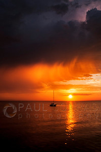 © Paul Conrad/Pablo Conrad Photography  The Sun sets over Bellingham Bay in Bellingham, Wash., after thunderstorms passed the area.