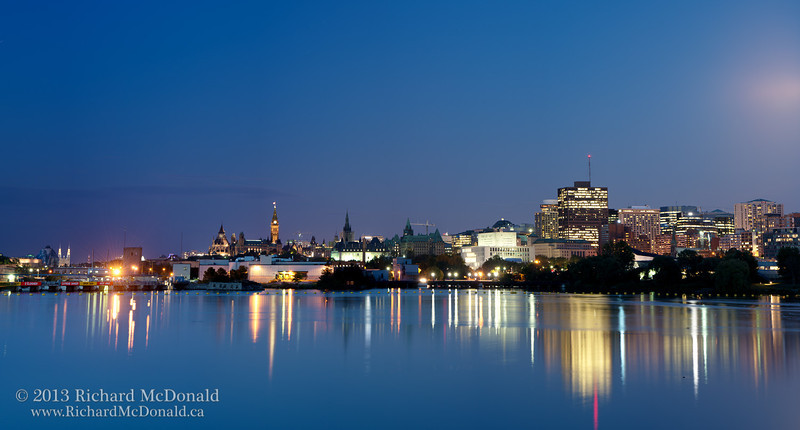 Ottawa Cityscape under the harvest moon