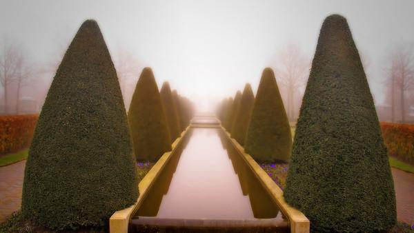 Keukenhof Gardens reflecting pool, Amsterdam, #0659