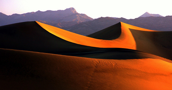 Mesquitte Sand Dunes at sunrise in Death Valley, #0111