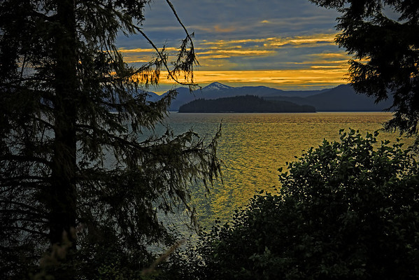 Sunset on the shores of Wrangell, AK, #0406