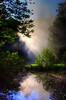 Early morning sun at Bond Falls near Paulding, Michigan, on the Ontonagon river, #0074.