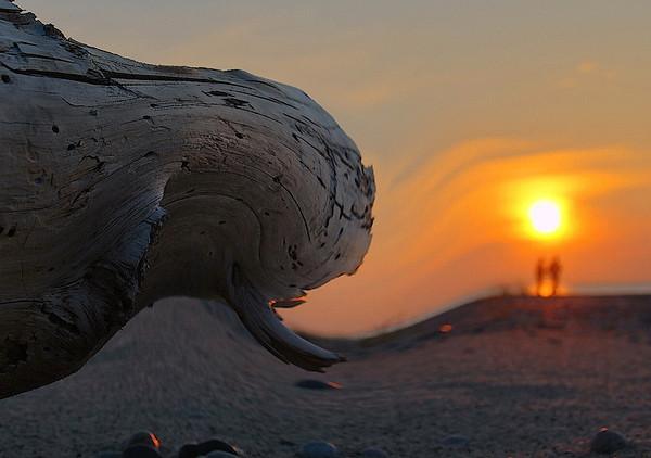 Sunset on Lake Superior at Grand Marais, MI, #0054
