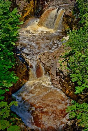 Cascade River Falls, near Lutsen, Minnesota - #0710