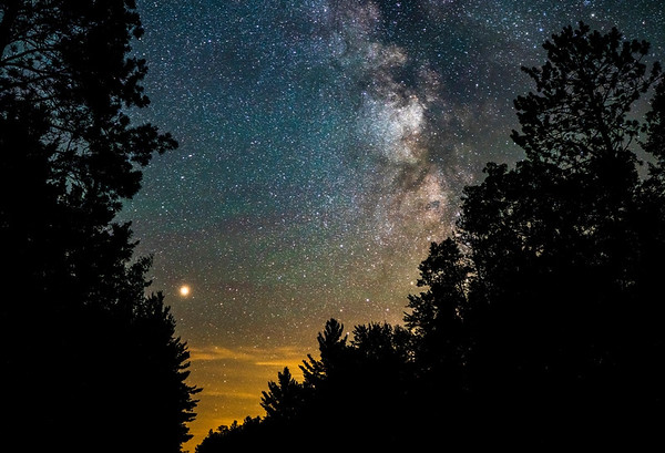 Mars over St. Croix State Park, August 8, 2018, #1800