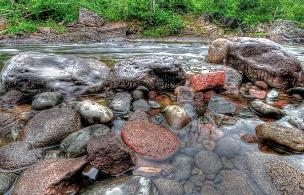 Rocks on the Temperance River near Lake Superior, Minneesota, #0066