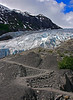 Receding glacier on the Kenai Peninsula, Alaska.  The path was covered with ice a few years ago, #0133