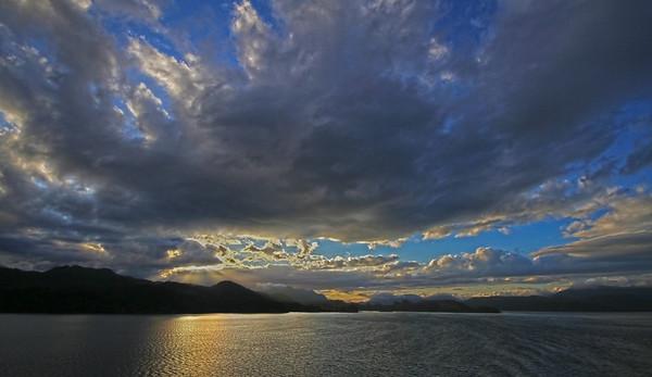 Sunset along the Inside Passage of Alaska,  #0155