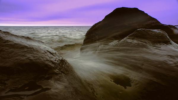 Shoreline rocks on the Northshore, Lake Superior, #0068
