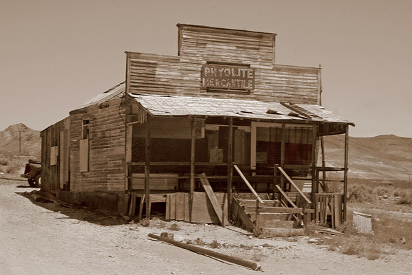 General store from turn of the century gold-rush ghost town Rhyolite, NV,#0113
