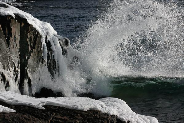 Winter on Lake Superior, Split Rock, North Shore, Minnesota, #0170