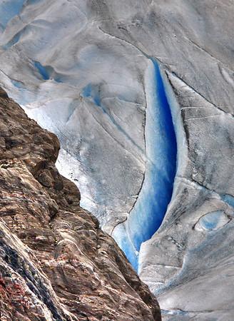 A deep slice in the glacier on the Kenai Peninsula, Alaska, #0137