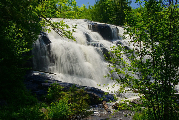 Bond Falls near Paulding, Michigan, on the Ontonagon river, #0069.