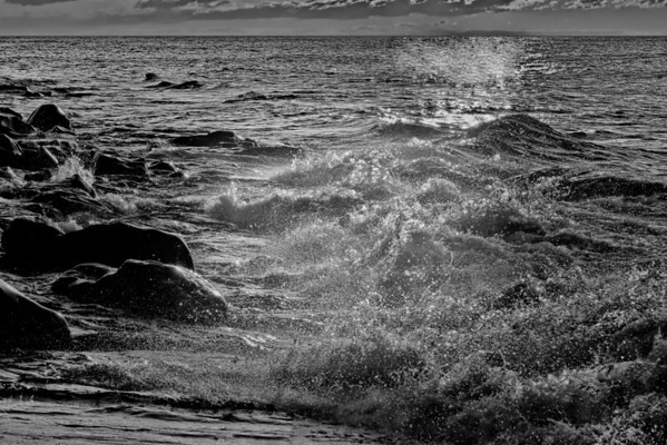 Lake Superior waves in front of the Cascade River north of Lutsen, Mn. #0325