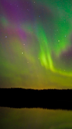 Northern Lights looking west toward Minnesota from Isle Royale,   - #0704