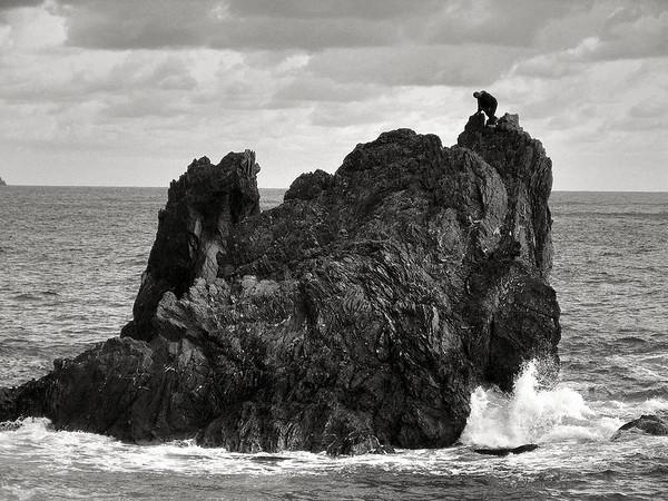 Sea rocks near Villefranch, France, #0099