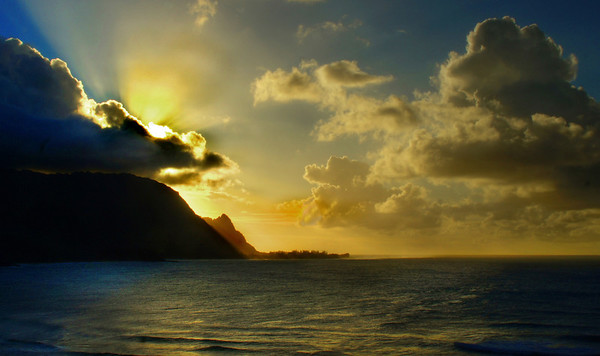 Sunset from the St. Regis Hotel in Kauai, #0102