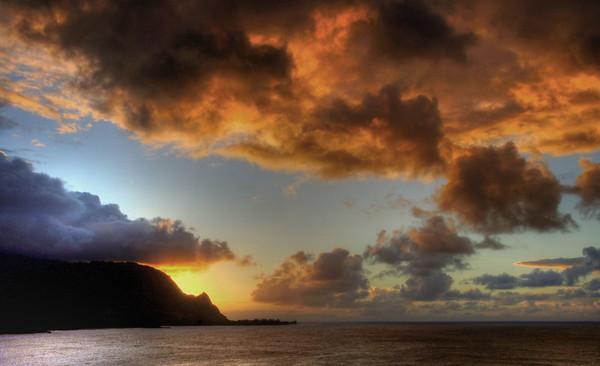 Sunset at the St. Regis Hotel in Princeville, Kauai, #0090