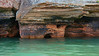 Red Cliff rocks of Lake Superior, near Big Sandy Bay and the Apostle Islands, #0046