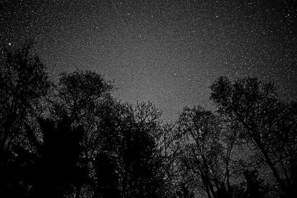 Northern hemisphere stars in June from Isle Royale, Lake Superior - #0707